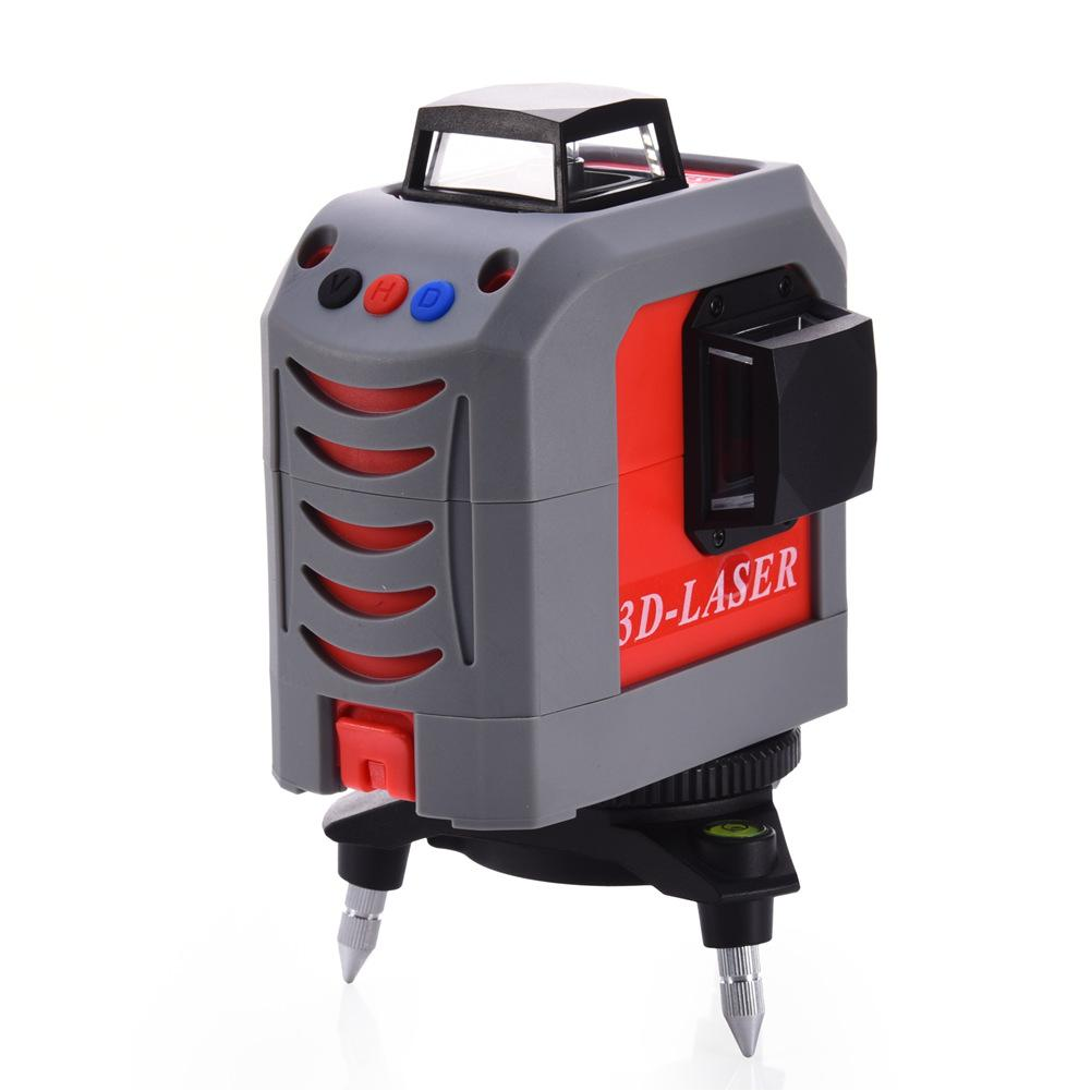 Red 12Lines 3D FC-185S Laser Level Self-Leveling 360 Horizontal and Vertical Cross Super Powerful Red Laser Beam Line bbloop confirmation self inking stamp rectangular laser engraved red