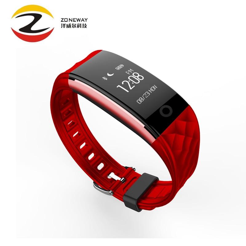 Горячие продажи s2 умный браслет браслет браслет heart rate <font><b>ip67</b></font> водонепроницаемый bluetooth smartband для iphone xiaomi huawei смартфон