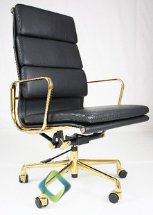 Eames Office Chair High Back Chairs Thick Gold Plated Rotary Lift Simplicity