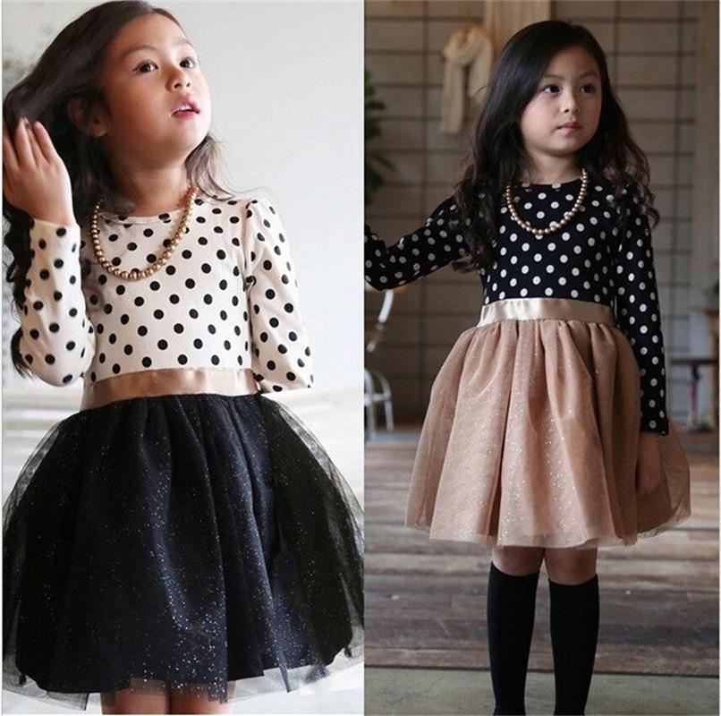 2018 New Long-Sleeve Winter Girl Dress Irregular Hemline Princess Party Kids Dresses For Girls Cotton Children Clothes Vestidos стоимость