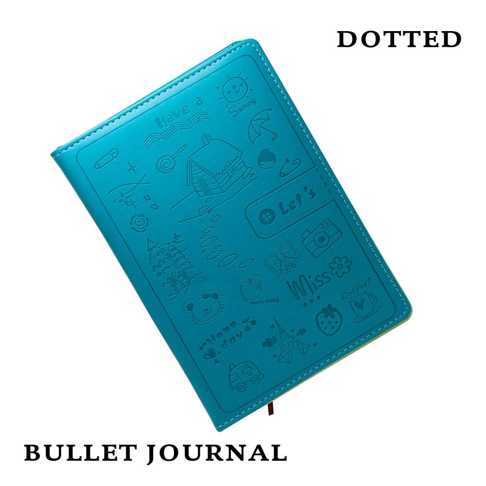 Gestippelde Hard Cover Creative Notebook Dagboek Business Cartoon - Notitieblokken en schrijfblokken bedrukken - Foto 1