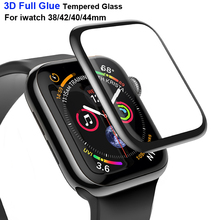 3D Full Glue Screen Protector for Apple Smart Watch Series 4 3 2 1 Curved Surface Tempered Glass i 42 38 40 44mm