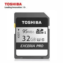 Toshiba exceria Pro SDHC 95 МБ/с. 32 ГБ SD карты UHS-I U3 Class10 памяти SD карты флэш-памяти для цифровой камеры карты