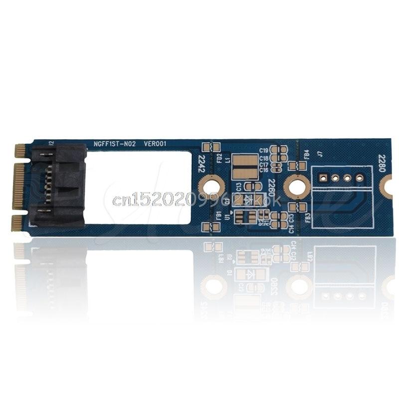 M.2 NGFF to 7 Pin SATA III 3 SSD NGFF1ST-N02 Adapter Converter Board Card PCB #H029# шасси orient uhd 2m2c12 для ssd m 2 ngff для установки в sata отсек оптического привода ноутбука 12 7 мм 30347