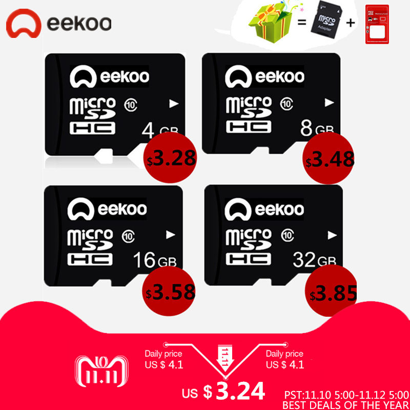 100% Real Capacity Class 10 Flash Memory Card Micro SD 8GB 32GB 16GB 32GB 64GB 128GB For Mobile Phone Tablet free SD adapter цена