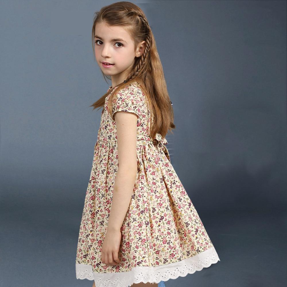 Mode Blumendruck Kinder Sommer Kleid Kittel Designs Mädchen ...