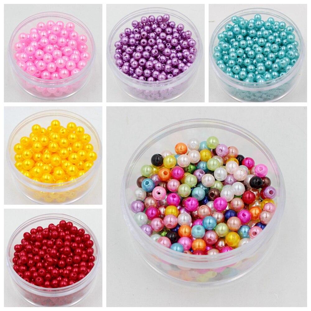 Бесплатная доставка 19 цветов ABS имитация жемчуга Круглый Смола Пластик бусины, что делает изделия Diy бусы, украшения ручной работы Цепочки и ожерелья