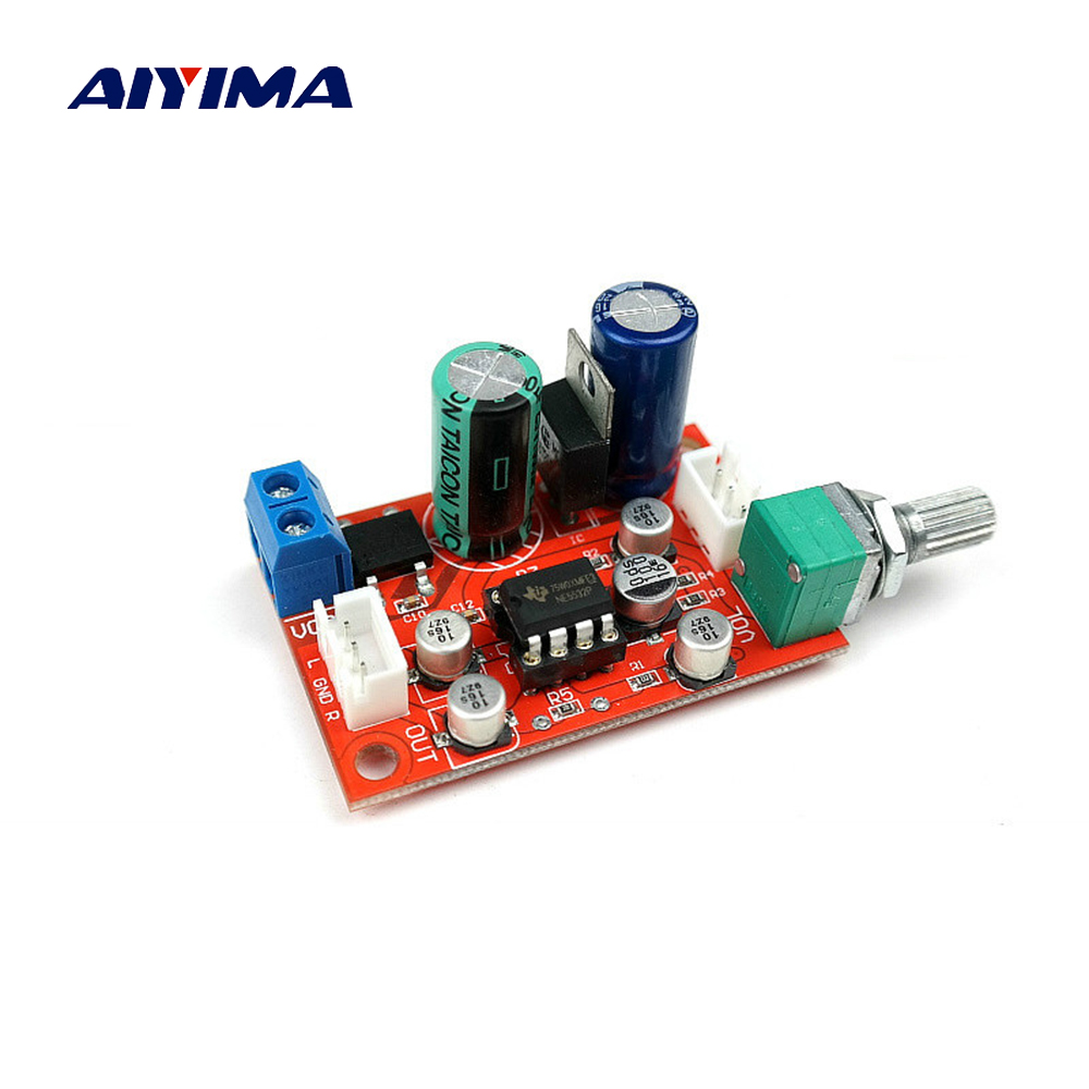 Aiyima NE5532 Op Amp Preamplifier Board With Volume Potentiometer ne5532 pre amp board w volume potentiometer blue