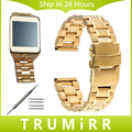 22mm faixa de relógio de aço inoxidável fivela de fecho pulseira strap para samsung galaxy gear 2 r381 r382 r380 moto 360 2 gen 46mm 2015