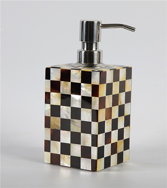 Mother Of Pearl Bathroom Accessories. Pen Shell With Golden Mother Of Pearl Hand Made Soap Dispenser Homehotel Bathroom Set