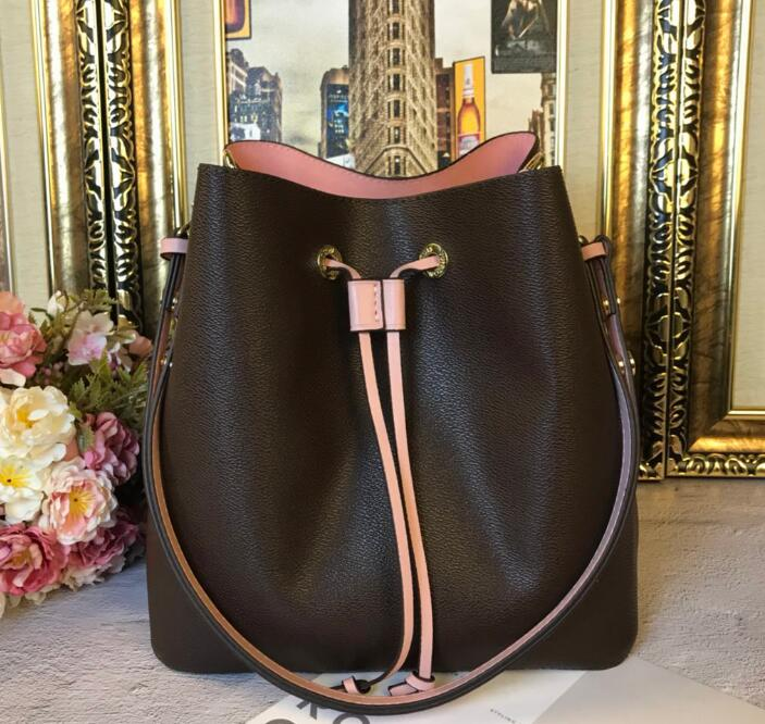 new Genuine Leather fashion Top Quality Neo Bucket Bag Monogram Luxury Handbags Women Bags Brand Designer Classic Lady Shoulder top quality 2018 new bag lady shoulder bag
