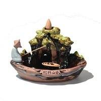 Incense Censer Joss Stick Holder Incense Burner Bedroom Meditation Retro Ceramics Classic