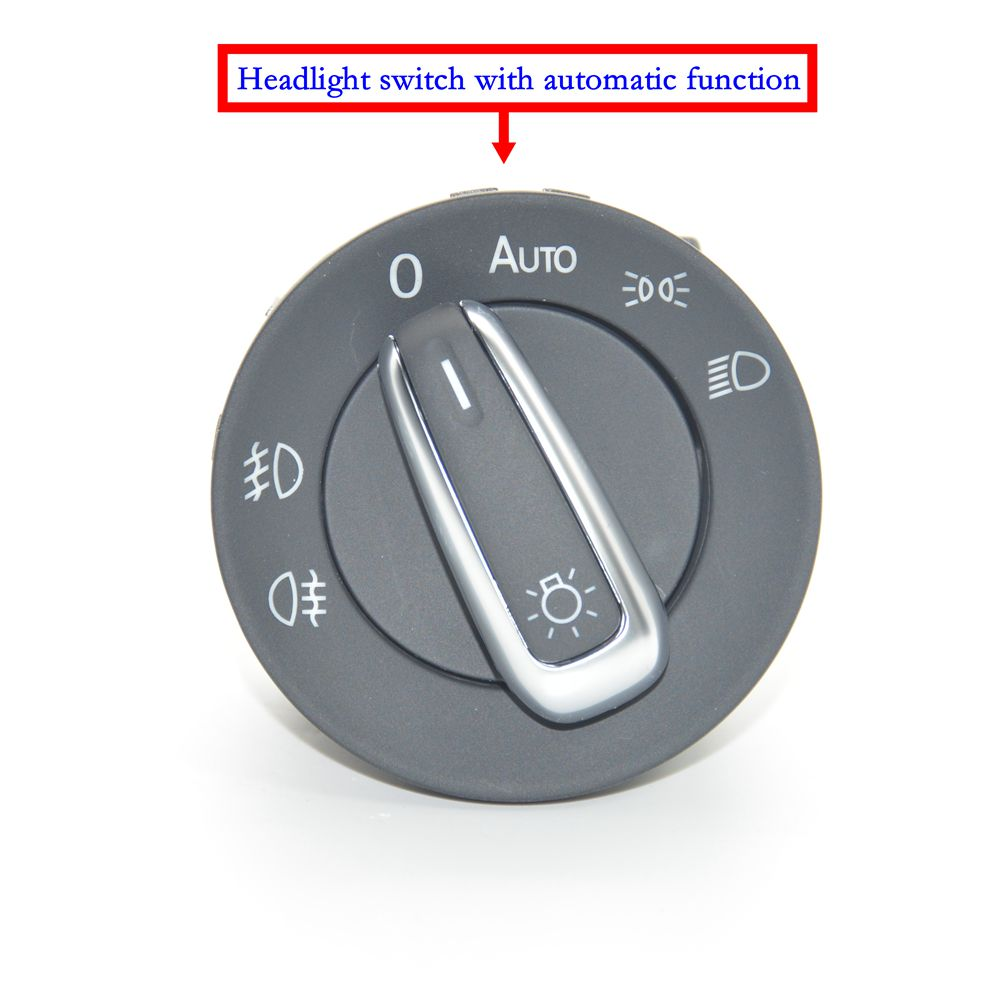 Image 2 - Car lights switch + chrome auto sensor light for Passat B5 Lavida Bora Polo Golf 4 new Jetta Santana Beetle 5ND 941 431 B-in Car Switches & Relays from Automobiles & Motorcycles