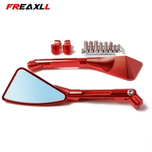 Universal Motorcycle Mirror Side Rearview Motorcycle Accessories FOR HONDA CBR954RR CB600F HORNET 250 600 900 CB400 VTEC400 CB-1 new style motorcycle parts hand guard protector abs plastic windshield handguards clear for honda cb400 vtec400 cb 1 vtr250