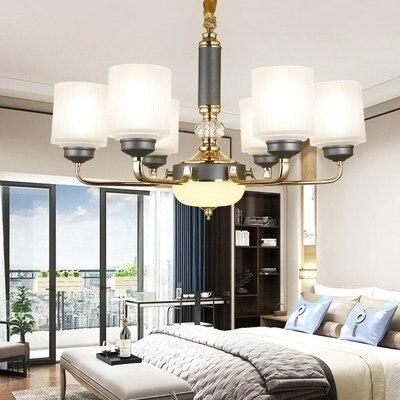 Modern Gold โลหะ Led โคมไฟระย้าแสงห้องนั่งเล่น Led จี้ไฟโคมระย้าอะคริลิคห้องรับประทานอาหารแขวนโคมไฟ-ใน โคมไฟแบบห้อย จาก ไฟและระบบไฟ บน title=
