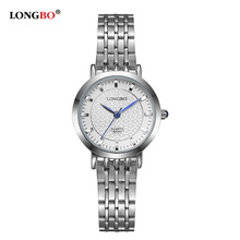 Fashion LONGBO Brand Watches Women Elegant Steel Bracelet Quartz Watch Men Women Waterproof Wristwatch 2017 Hot Montre Fomme