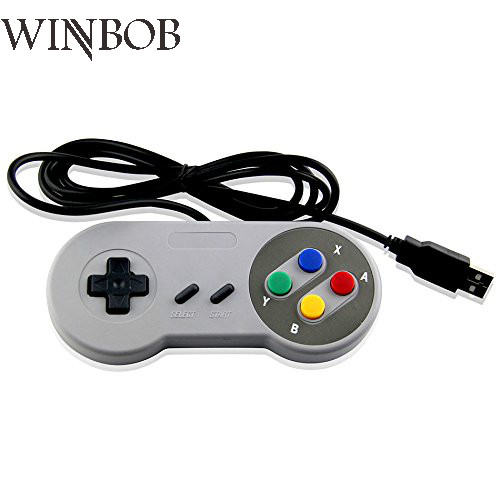 1pcs/Lot Game Controller For Super SNES USB Classic Gamepad for PC MAC Games for Win98/ME/2000/2003/XP/Vista/Windows7/8/ Mac os