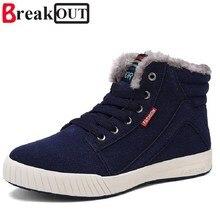 Вырваться из Новых Людей Прибытия Зимние Сапоги Снега Сапоги для Мужчин Лодыжки Ботинки Теплые Плюшевые и Меховой Моды Мужчины обувь