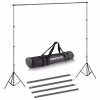 Neewer 6.5x10 feet/2x3 meters Background Stand Support Kit for Portrait,Product Photography and Video Shooting