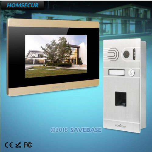 HOMSECUR 7 Wired Video Door Entry Phone Call System Door Intercom Voice Message for Apartment  BC061-S + BM715-GHOMSECUR 7 Wired Video Door Entry Phone Call System Door Intercom Voice Message for Apartment  BC061-S + BM715-G