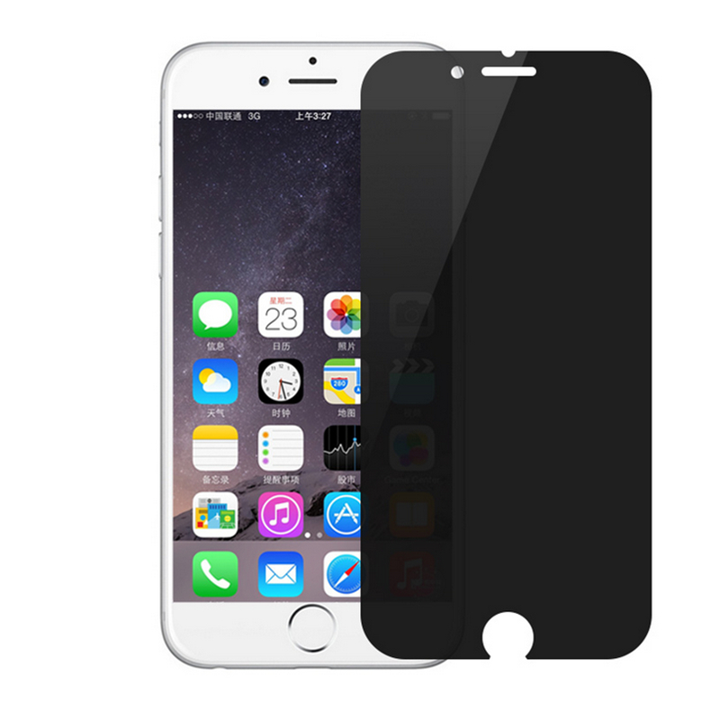 timeless design ea7c7 a417f AntiSpy Quality Tempered Glass Screen Protector for iphone 4/4s/5s/5c/6/6  Plus 7/plus 9H Anti-shatter Privacy Protection Film