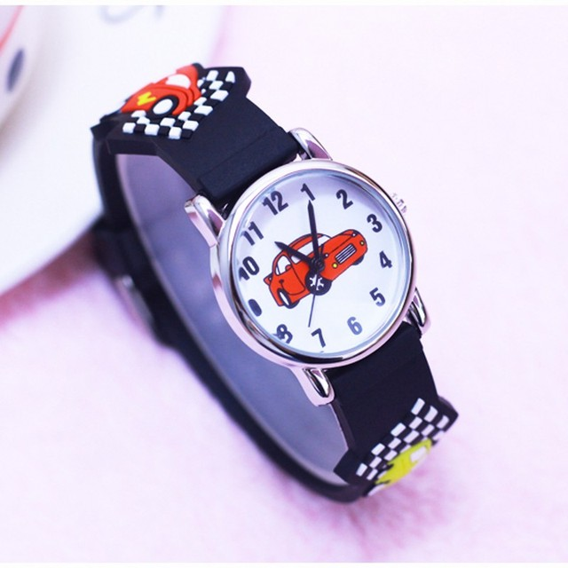 Waterproof Kids Watches Children girls boy Silicone Racing cars desgin watch Qua