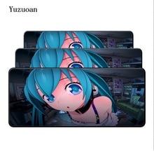 Yuzuoan Customized Hatsune Miku Eye Style Gaming Mouse Pad PC Computer Laptop Mice Mat For Gamer Large Overlock Desk