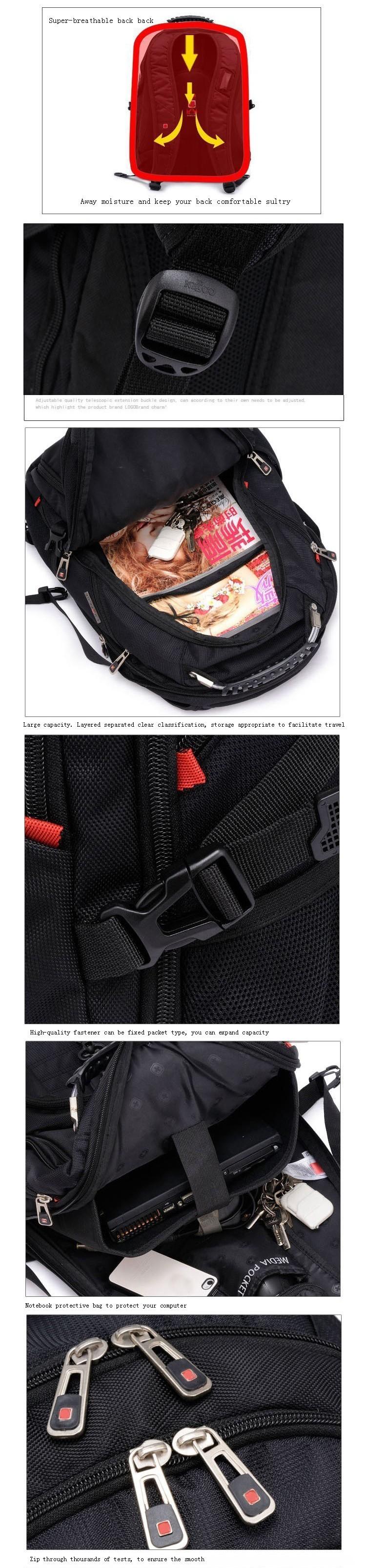 MAGIC UNION Oxford Men Laptop Backpack Mochila Masculina 15 Inch Man's Backpacks Men's Luggage & Travel bags Wholesale 6