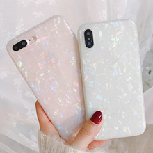 Shining Glitter Phone Case For iPhone 7 8 Plus Dream Shell Pattern Cases For iPhone XR XS Max 6 6S Plus Soft TPU Silicone Cover uslion glitter phone case for iphone 7 8 plus dream shell pattern cases for iphone xr xs max 7 6 6s plus soft tpu silicone cover