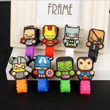 8pcs/lot Cartoon Super heroes marvel Cable Winder Headphone Earphone Cable Wire Organizer Cord Holder For iphone samsung(China)