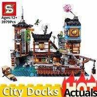 NEW LegoINGlys Ninjagoes city Docks Toys for Children house set Model Building Blocks Bricks Kits Educational DIY birthday Gifts