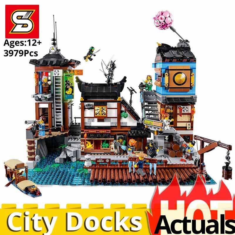 Nouveau LegoINGlys Ninjagoes ville Docks jouets pour enfants maison set modèle blocs de construction briques Kits éducatifs bricolage cadeaux d'anniversaire
