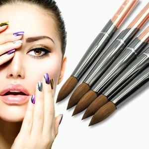 Image 1 - Eval Paint Brush 100% Pure Kolinsky Sable Nail Brush UV Gel Acrylic Nail Art Brush Set Nail Tool