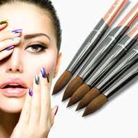 Eval pinceau 100% pur Kolinsky Sable brosse à ongles UV Gel acrylique Nail Art brosse ensemble outil à ongles