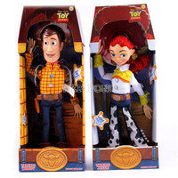 Anime Toy Story 3 PVC Action Figure Jessie Woody 36 Cm Collection Model Kid Toy Electrified with Voice Speak English RETAIL BOX