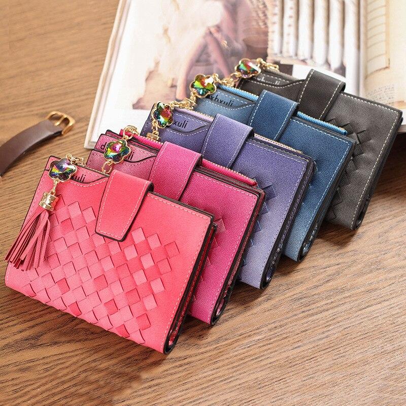 PU Leather Women Wallet Female Long Clutch Lady Walet Portomonee Rfid Luxury Brand Money Bag Magic Zipper Coin Purse