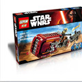 206 unids 2016 Speeder LEPIN 05001 Star Wars The Force Despierta del Rey montado bloques de construcción de juguete juguetes de regalo de Navidad
