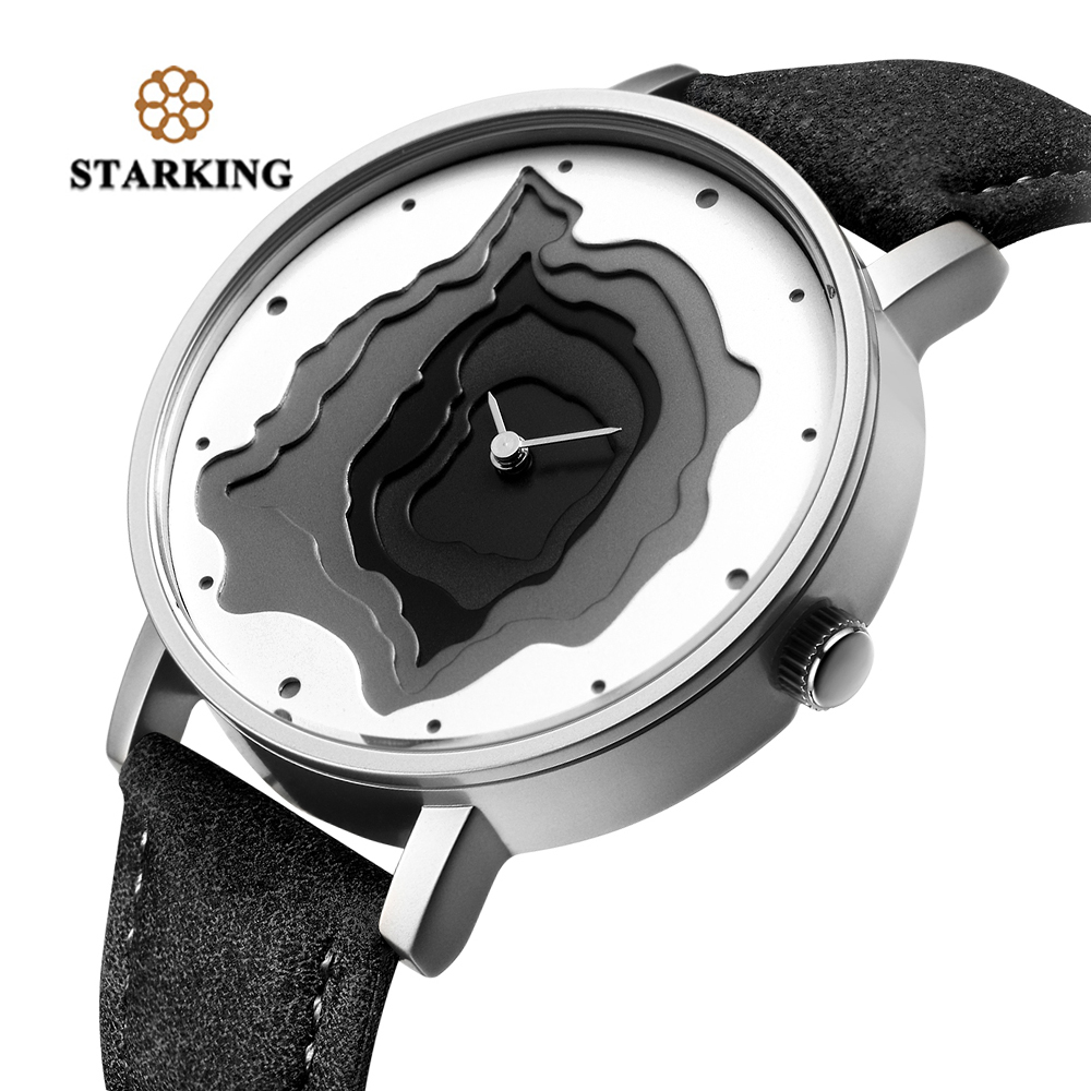 High Quality STARKING Brand Retro Type Wristwatch Leather Earth Conception Simplicity Watch Quartz Relogio Feminino Gift meibo brand fashion women hollow flower wristwatch luxury leather strap quartz watch relogio feminino drop shipping gift 2012