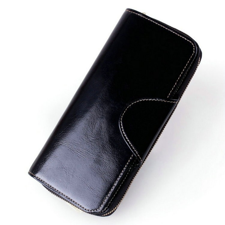 mens leather wallets black