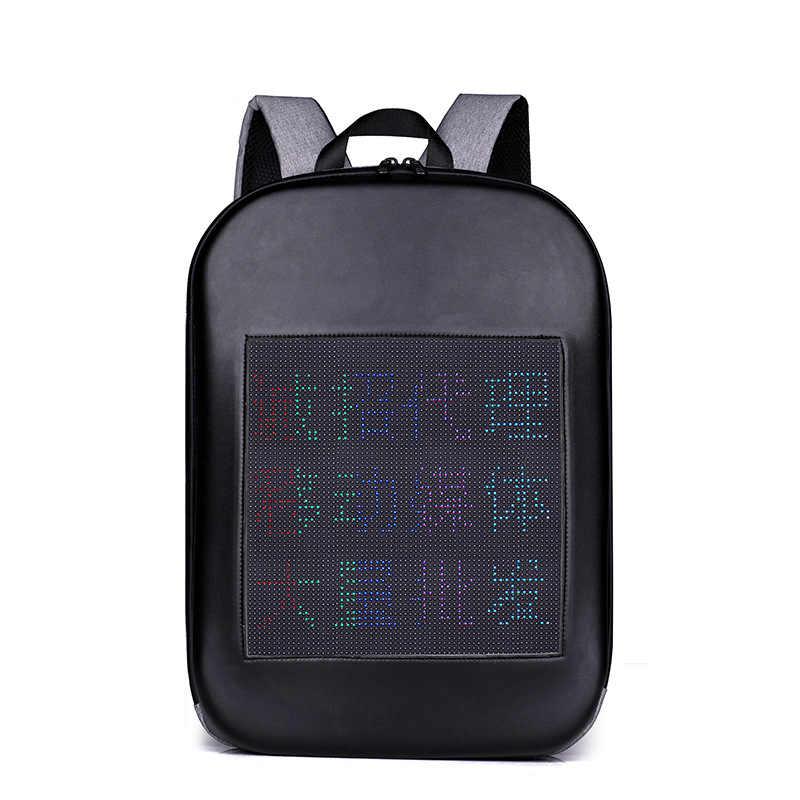 WIFI edycja angielska plecak Unisex męski emitujący światło plecak na ramię na zewnątrz inteligentna torba na komputer LED