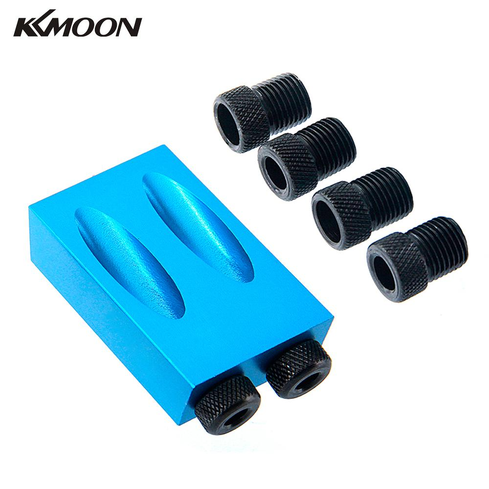 Pocket Hole Jig Kit 6/8/10mm Drive Adapter for Woodworking Angle ...