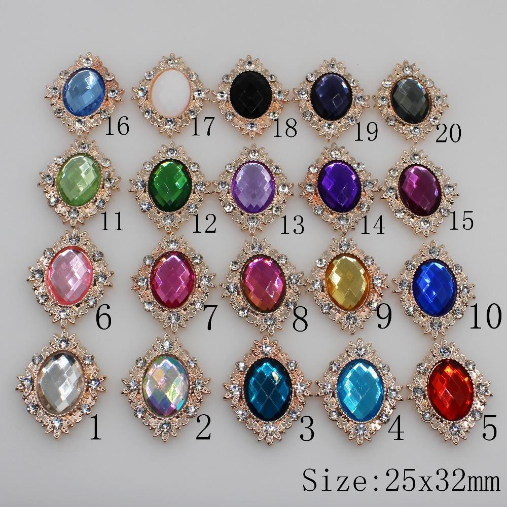 Fashion 10pc Acrylic Rhinestone Button 2020 Flower Shaped Wedding Decoraation Flat Back Clothing Metal Button DIY Accessories