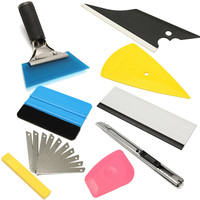 Useful 8 Peices Auto Squeegee Scraper Applicator Car Window Tinting Installation Tools Kit