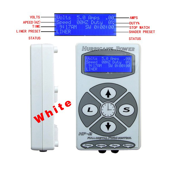 Wholesale HP-2 silver color tattoo machine power supply for permanent makeup machineWholesale HP-2 silver color tattoo machine power supply for permanent makeup machine