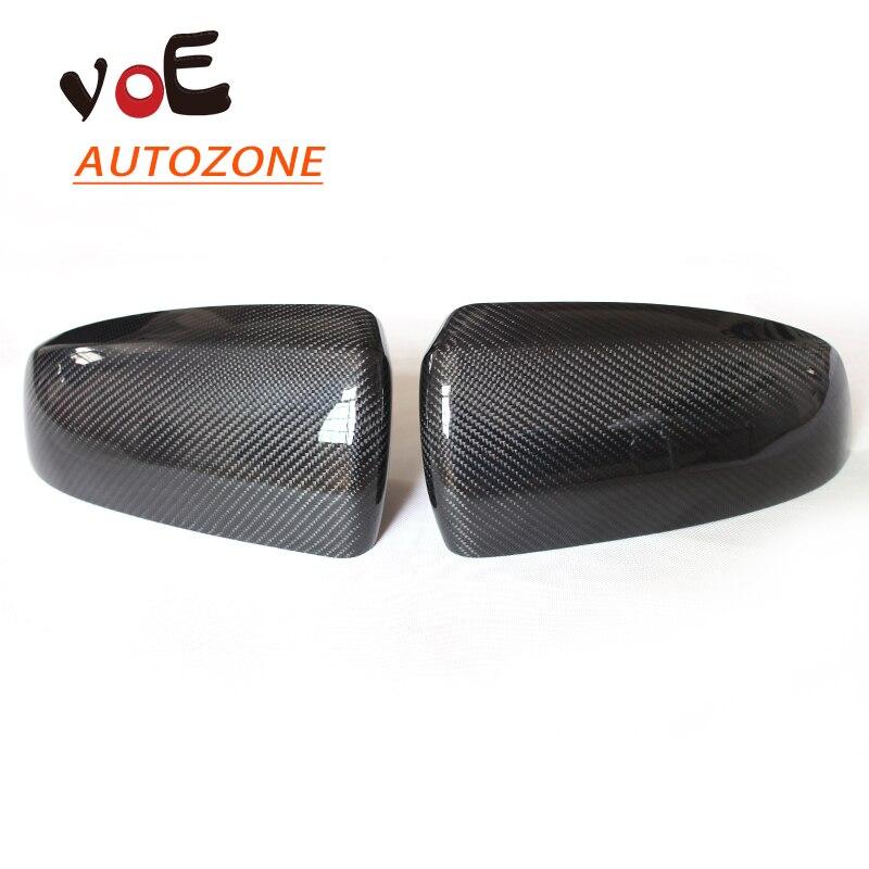 2007-2013 de Fibra de Carbono de Reemplazo E70 E71 Espejo Retrovisor Cubre, Side