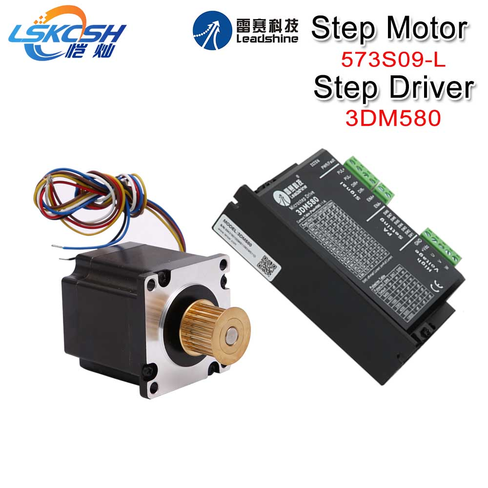 LSKCSH Leadshine 3 Phase Stepper Motor 573S09-L-18/573S15-L-18+Stepper Driver 3DM580 for CO2 Laser Engraving Cutting Machine new men winter boots plush genuine leather men cowboy waterproof ankle shoes men snow boots warm waterproof rubber men boots page 10