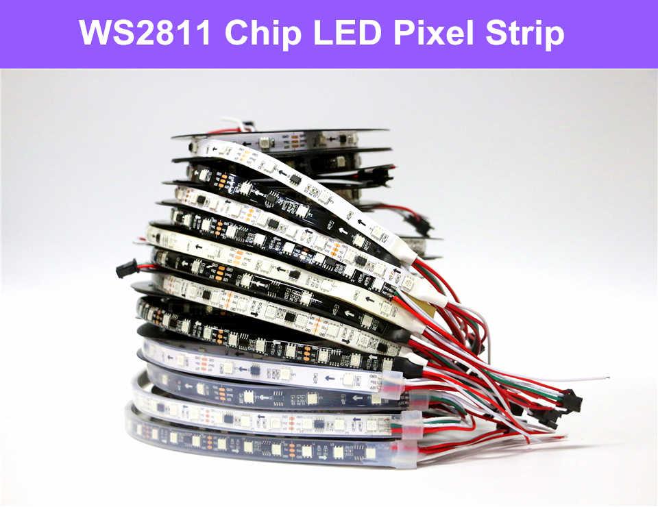 30-60 LED//M IP30 IP67 12V WS2811 5050 RGB Full Color Addressable Strip