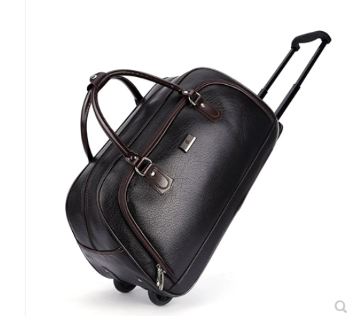 PU Cabin Boarding Luggage Bags Rolling Bag With Wheels  Travel Trolley Bag On Wheels For  Men Travel Duffel  Wheeled Travel Bags
