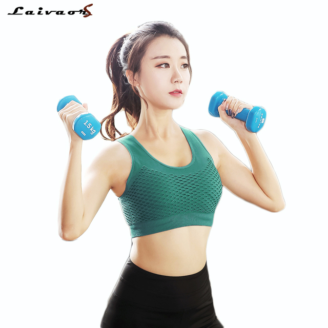 8a2f220316a6e 2018 Sexy Running Sports Bra Tops Gym Fitness Women Athletic Padded Yoga  Bra Push Up Tank Top Hollow out Breathable Sports Tops
