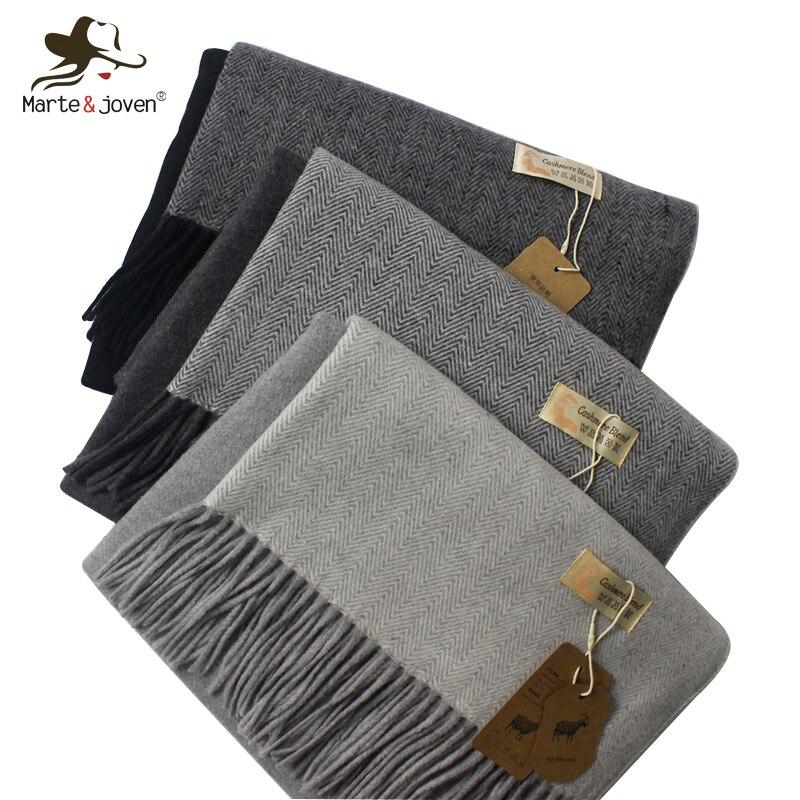 Marte & Joven marque de luxe Patchwork hiver Imitation cachemire gland écharpe pour les femmes Vintage épaissir chaud Pashmina châles étoles